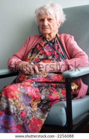 94 year old senior citizen - stock photo