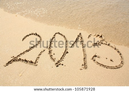 2013 year on the beach