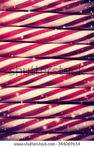 2016 year shiny silver ornaments for Christmas tree on the wooden background with copy space, Christmas decorations, Christmas candy cane ornaments. - stock photo