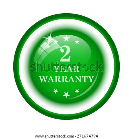 2 year warranty icon. Internet button on white background.  - stock photo