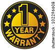 1 year warranty (one year warranty) - stock photo