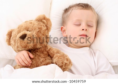 3-4 years old boy sleeping - resting