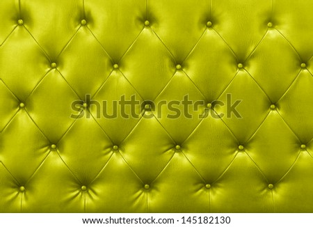 yellow sofa leather background - stock photo