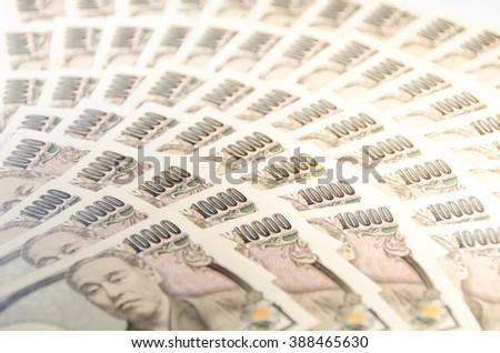 10,000 yen bills - stock photo