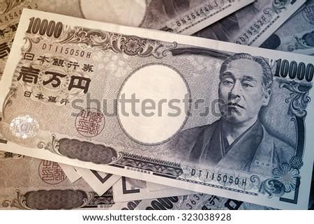 10000 Yen Note - stock photo