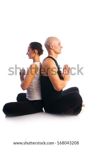 couples yoga stock photos images  pictures  shutterstock