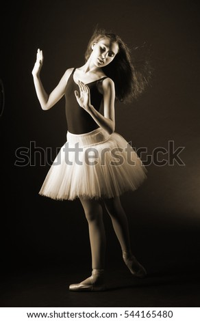 young ballerina dress and shoes