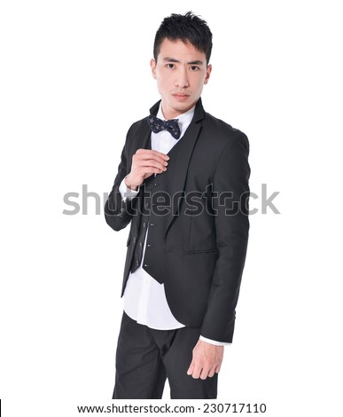 young man of Asian, portrait isolated  - stock photo