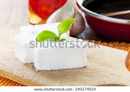 yummy white cheese - stock photo