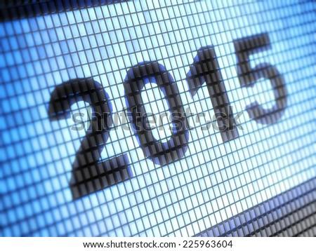 2015 - stock photo