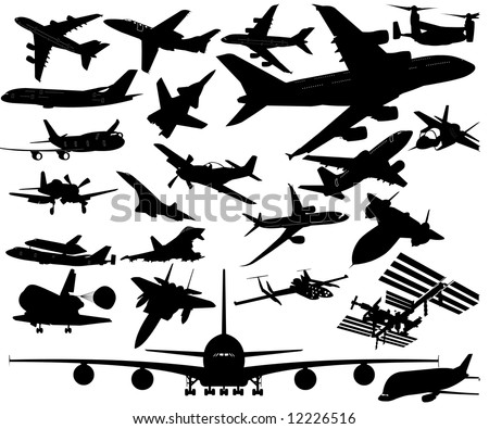 A380, A350, Dreamliner, Space Shuttle, ISS, F14, F16, F22, Corsair, Mustang, Su, Strike Fighter, concord and many more airplanes