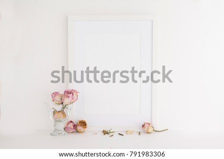 A 4 A 3 Picture Frame On White Stock Photo Royalty Free 791983306