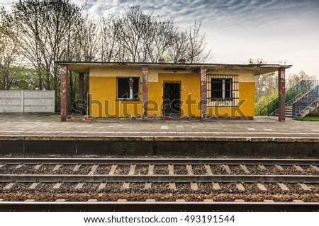a abandon train station at sall town in Poland