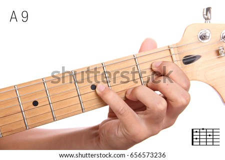 A 9 Advanced Guitar Keys Series Closeup Stock Photo Download Now