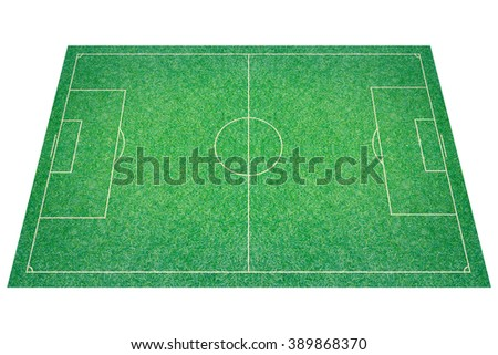 A artificial textured grass football / soccer field.