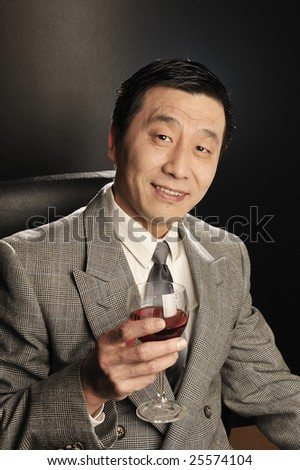 A Asia businessman Confidence smiling - stock photo