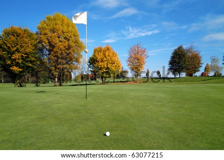 a autumn day at the golf club