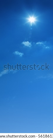 a background image of blue cloudy sky - stock photo