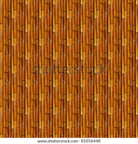 A background made of straight brown bamboo poles