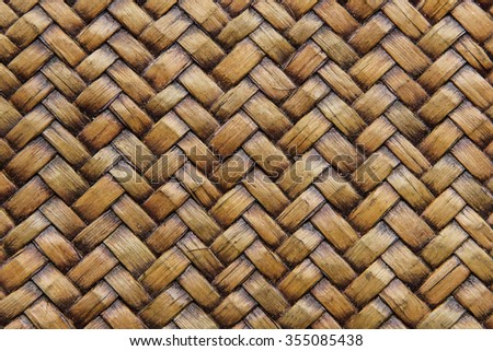 A background of brown rattan texture (close up) - stock photo