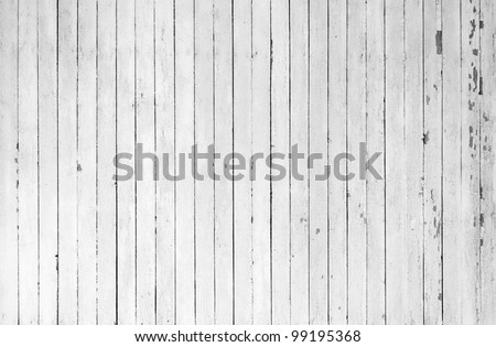 A background of closeup weathered white painted wood - stock photo