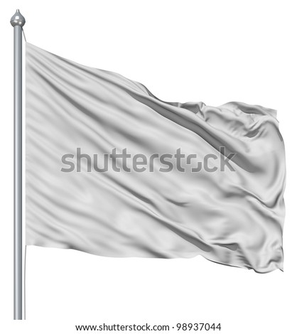 A background of folded and rippled soft plush white satin material - stock photo