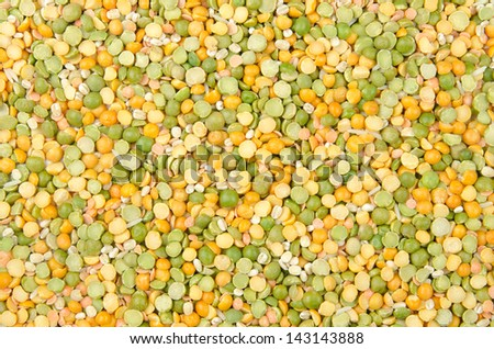 A background of legumes, grains and rice mixture for soup
