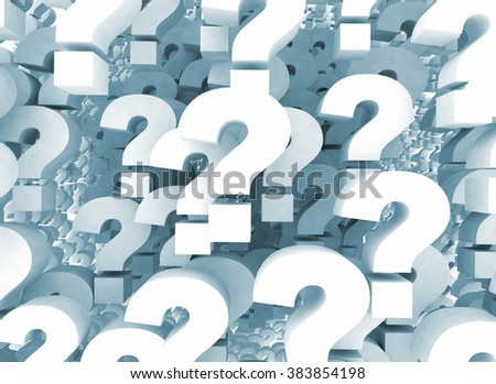 A background of question mark signs  - stock photo
