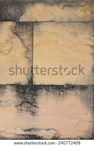 A background of stone and concrete blocks wall with texture - stock photo