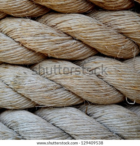 A Background Texture Of Grungy Old Rope - stock photo