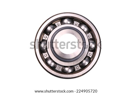 a ball bearing, isolated over white, clipping path