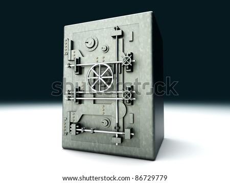 A bank safe. 3D rendered Illustration. - stock photo