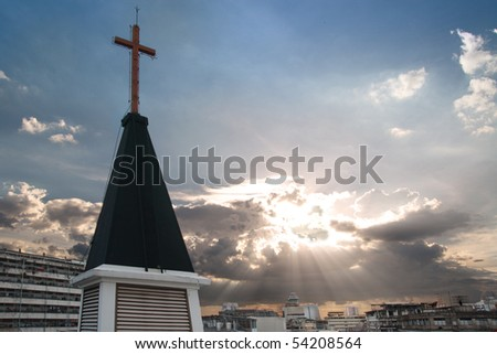 A Baptist church in Bangkok, Thailand.  Tell story about mission from church to the world - stock photo