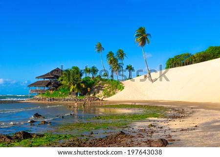A bar at Dunes of Genipabu in Natal, Brazil - stock photo