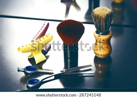 a barber tool close up - stock photo