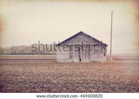 A barn with made to look old effects.