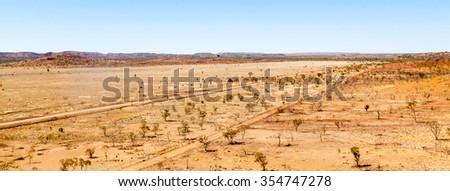 A barren outback vista from riversleigh downs fossil site northern teritory australia - stock photo