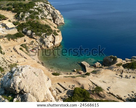 A bay in an area called Ireon near korinthos in Greece