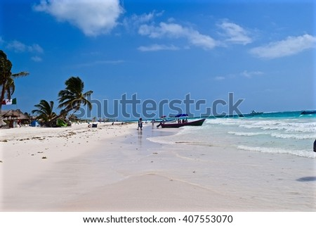 A beach in Tulum unspoilt by tourist