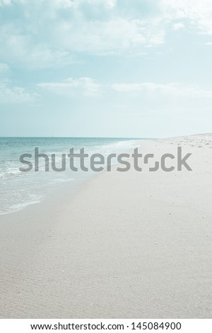 "a beach on the island ""ilha de faro"" (Portugal) - stock photo"