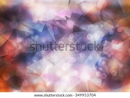 A beautiful abstract circular bokeh and abstract polygon shimmering blur spot  of Christmas light background