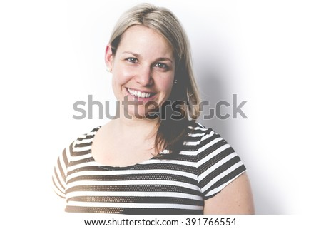 A Beautiful adult woman over gray background - stock photo