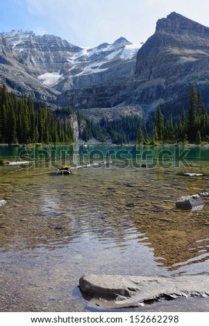 A beautiful alpine lake in Yoho National Park British Columbia Canada