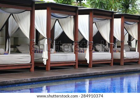 A beautiful and luxurious hotel resort in Indonesia - stock photo