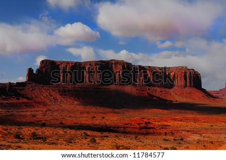 A Beautiful background Image Of Monument Valley