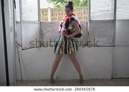 a beautiful brown and sensual girl   - stock photo