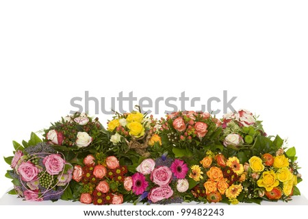 a beautiful bunch of flowers