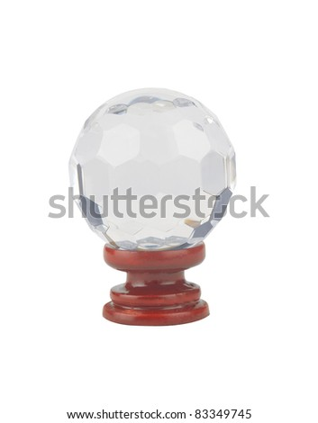 A beautiful crystal ball on stand - stock photo