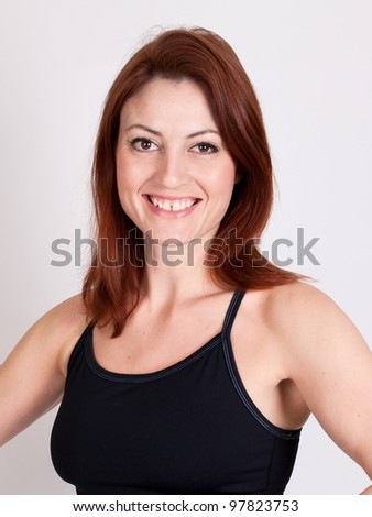 A beautiful fit red-haired woman