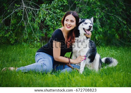 Dog breeding female itching sitting